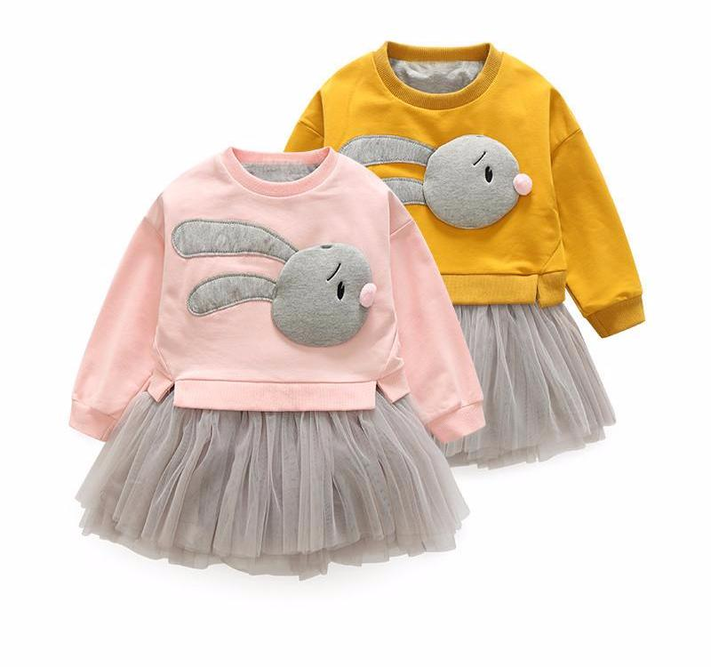 2 Piece Rabbit & Tutu Clothing Set for Girl