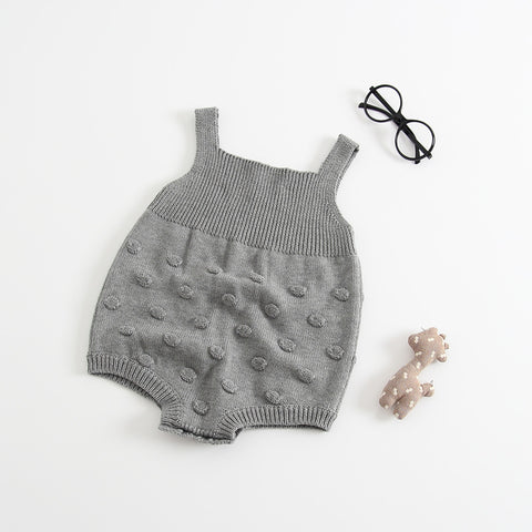 714e3494006 Knitted Romper with Pompom for Baby Girl – Lovebly