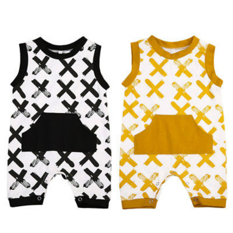 Sleeveless Coloured Romper for Baby Boy or Girl