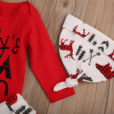 3 Piece Wintery Outfit Set for Baby Boy