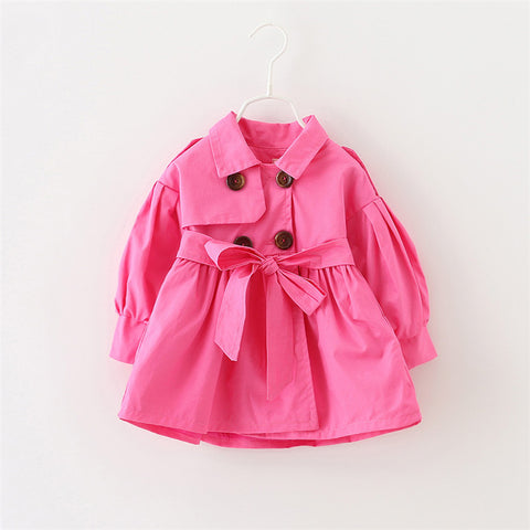 Autumn Bow Coat for Baby Girl