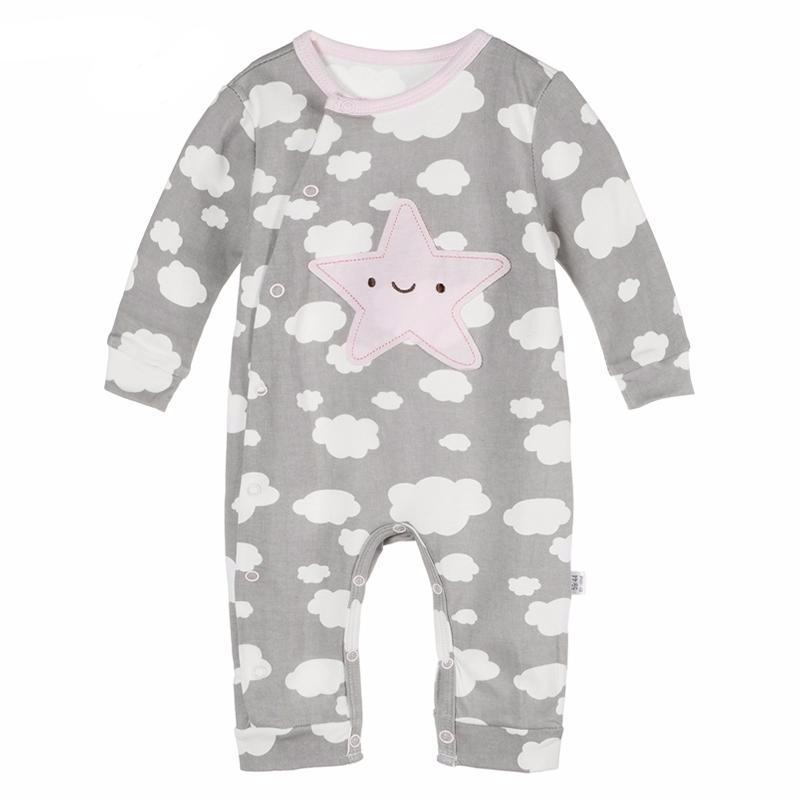 Pyjama with clouds for baby boy or baby girl