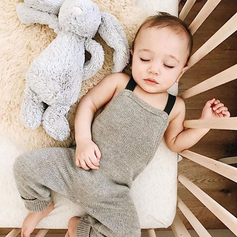 Unisex Knitted Sleeveless Romper