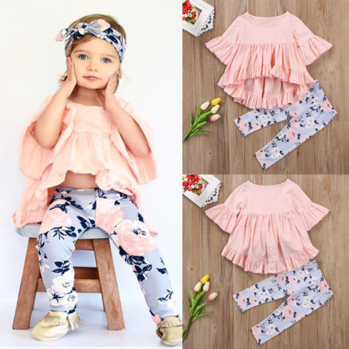 2 Piece Floral Outfit Set for Baby Girl