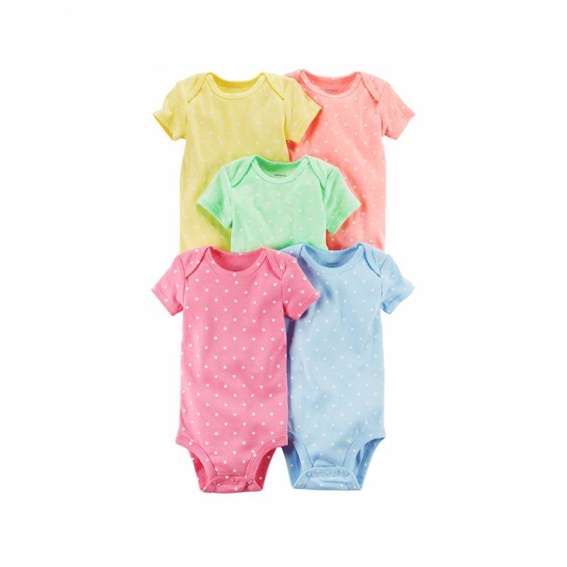 5 Pack Cotton Bodysuits