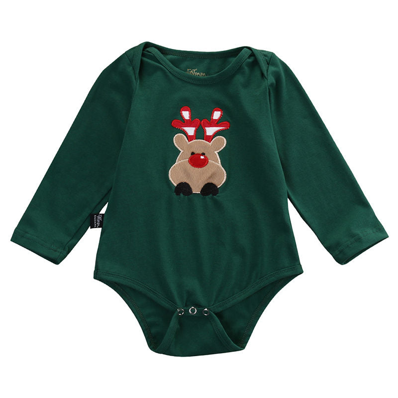 Unisex Christmas Deer Bodysuit for Baby