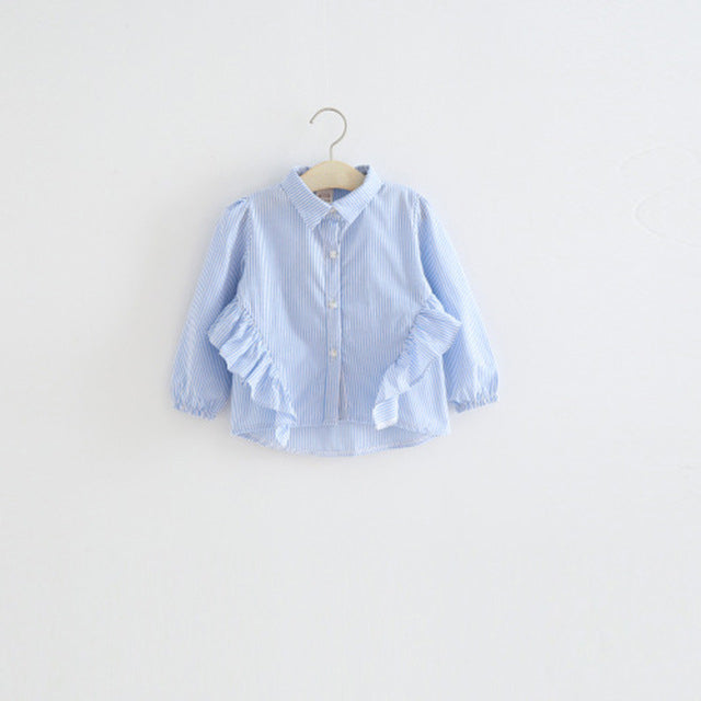 Fashion Blouse with Ruffles for Girl