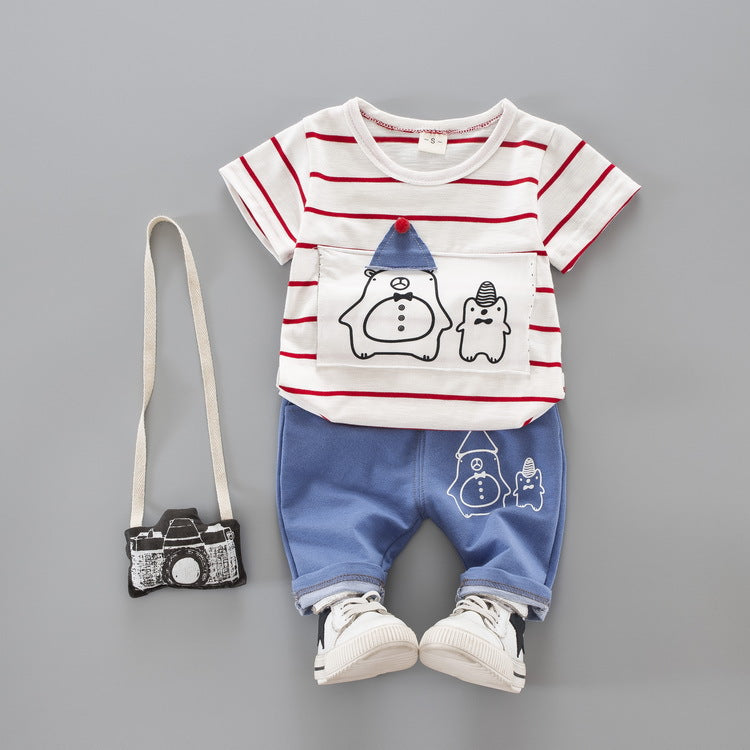 Summer 2 Piece Set T-shirt + Pants for Baby Boy/Toddler