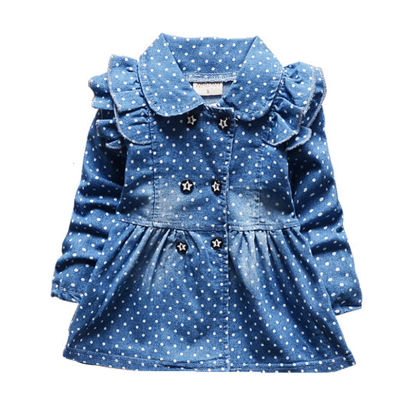 Denim Jacket with Ruffles for Baby Girl
