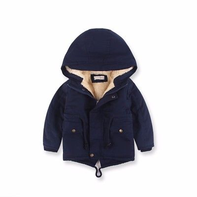 Warm Hooded Coat for Boys