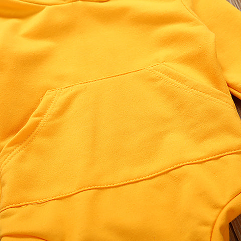 Unisex Yellow & Stripes 2 Piece Set for Baby