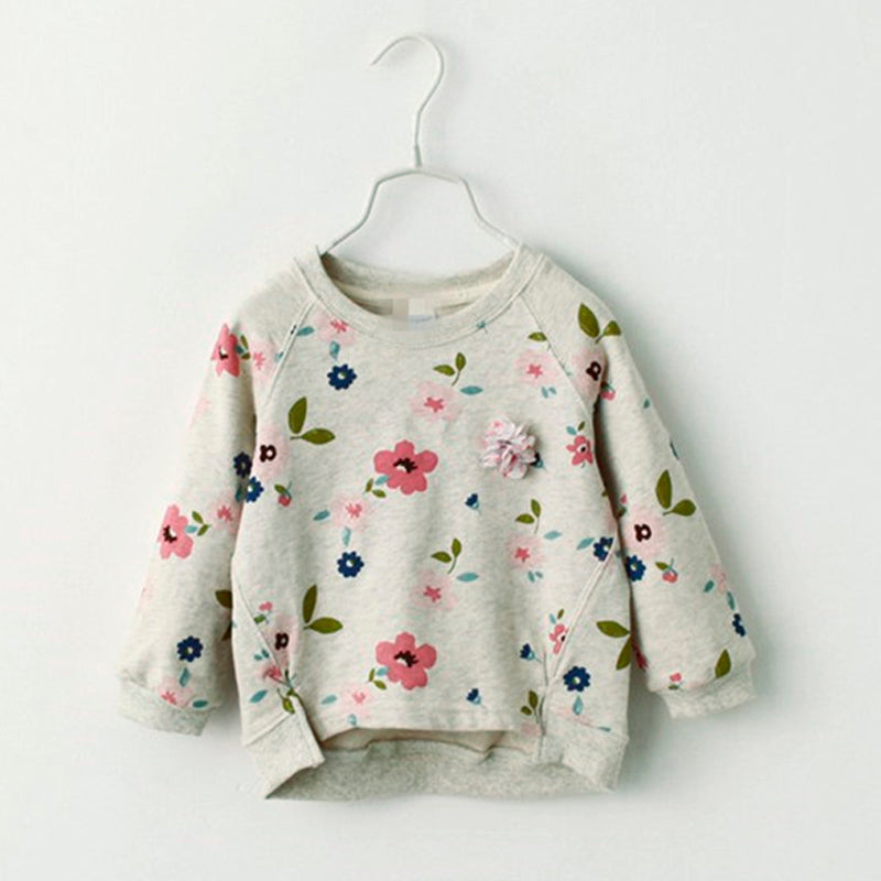 Floral Loose Sweater for Girl