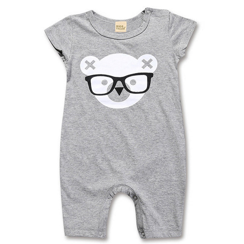 Cute Short Sleeve Romper for Baby Boy or Girl