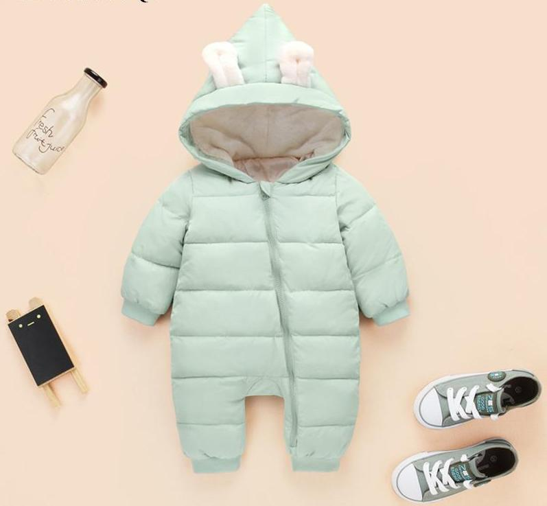Unisex Warm Snowsuit in Lovely colors for Baby