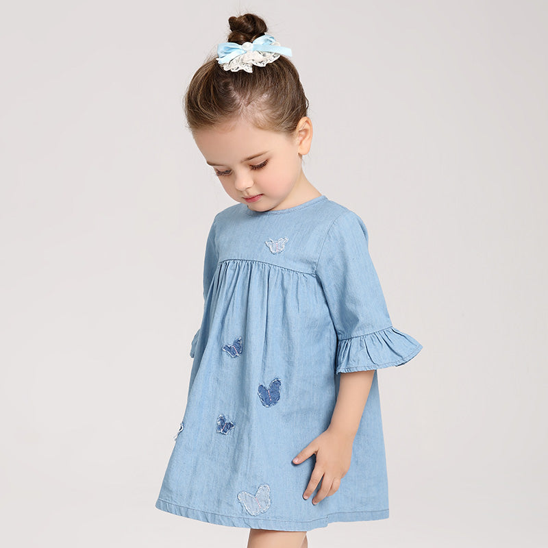 Half Sleeve Jeans Dress for Girl