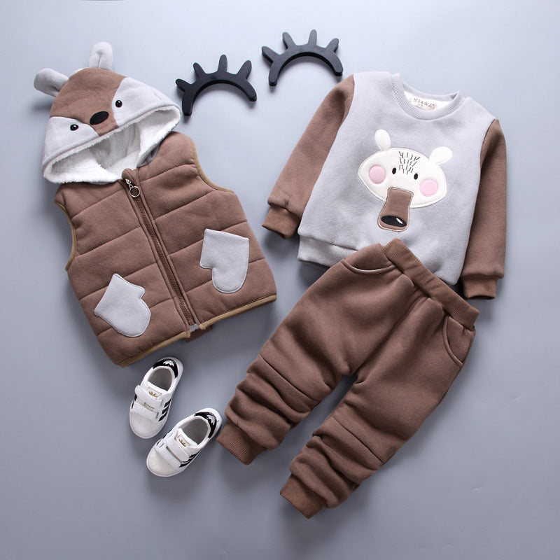 3 Piece Little Bear Warm Set for Baby Girl or Boy