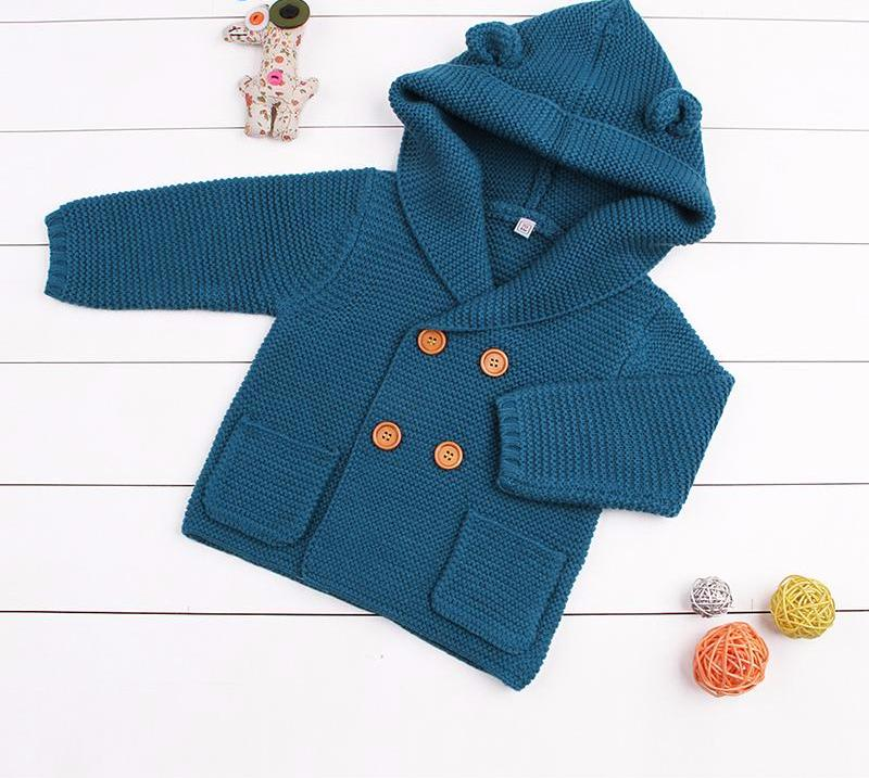 Knitted Winter Cardigan for Baby Boy or Girl