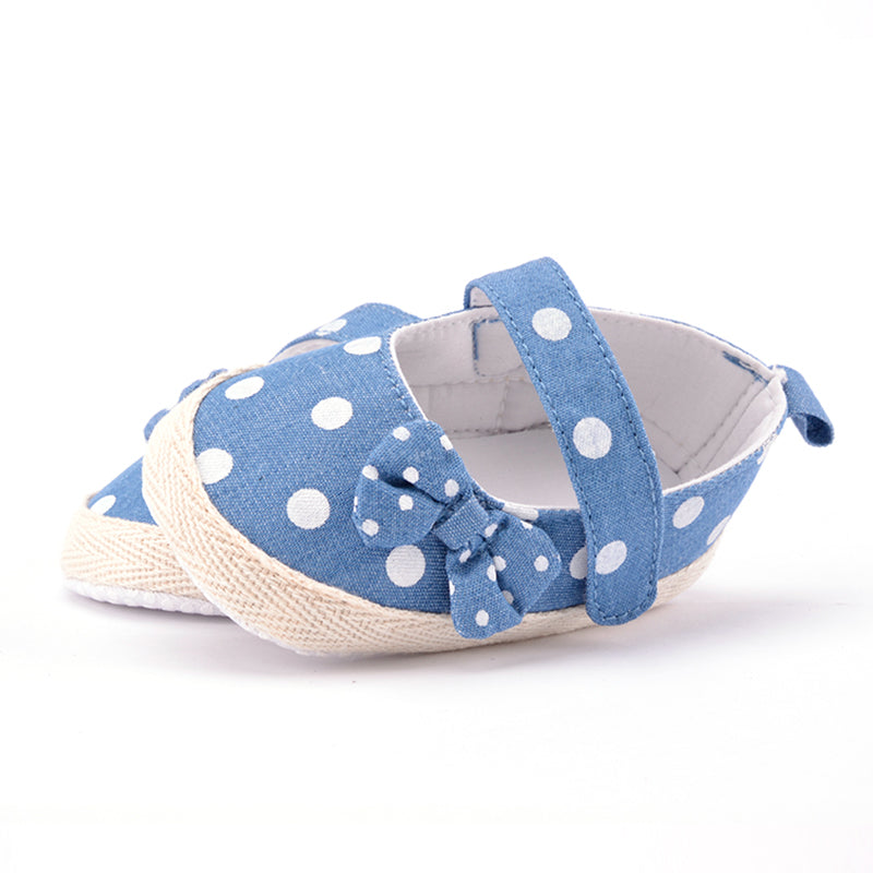Summer Bowknot Baby Shoes with Dots