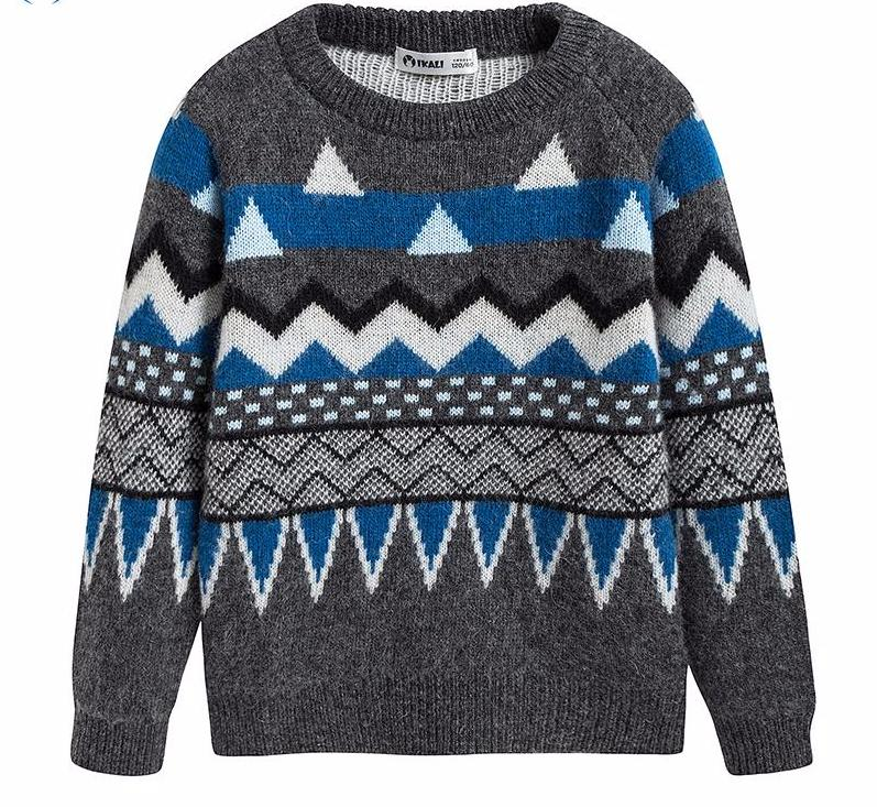 Wintery Knitted Sweater for Boy