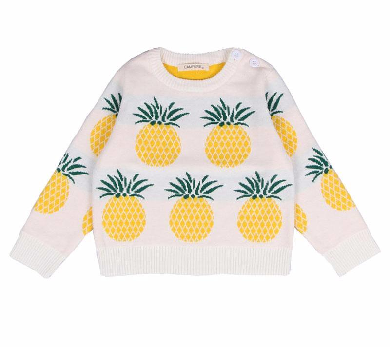 Pinapple Knitted Sweater for Girl