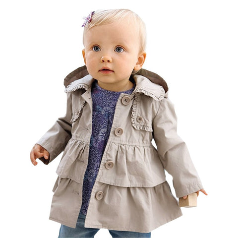 Fashion Toddler/Girl Ruffled Jacket