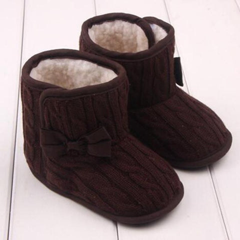 Knitted Boots for Baby Girl