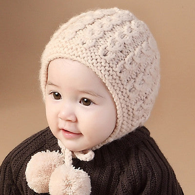 knitted Ear Cap for Baby