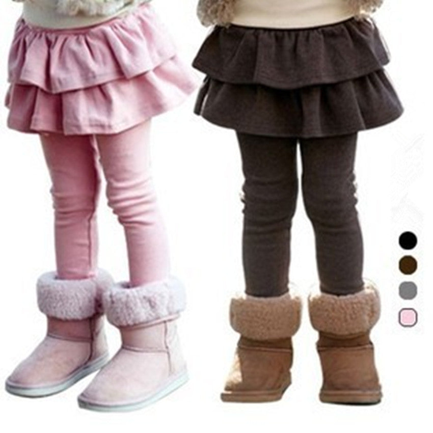 Skinny Legging with Ruffles Skirt for Girl