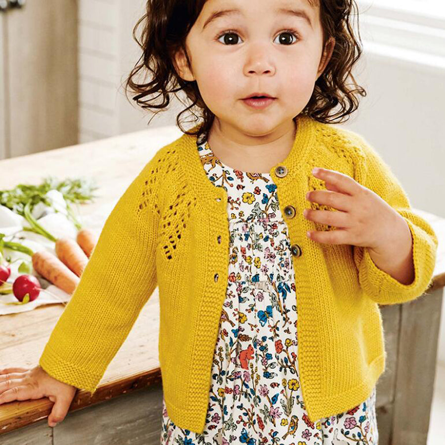 Delicate Knitted Cardigan for Girl