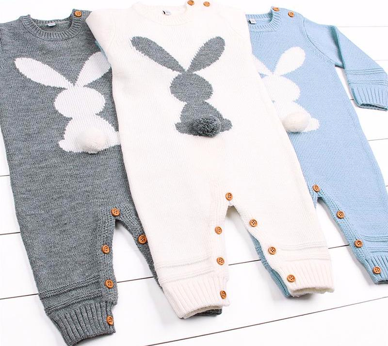 Baby Winter Romper with Bunny