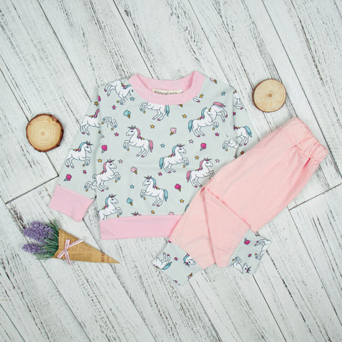 2Piece Spring Unicorn Set for Baby Girl