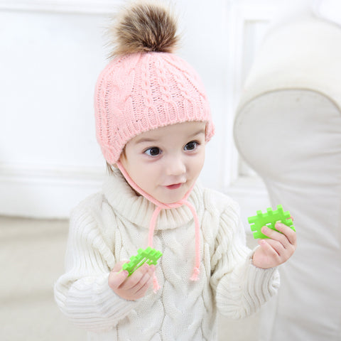 Baby Knitted Hat with Ears Protection