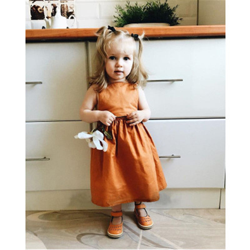 Summer Pumpkin Dress for Toddler/Girl