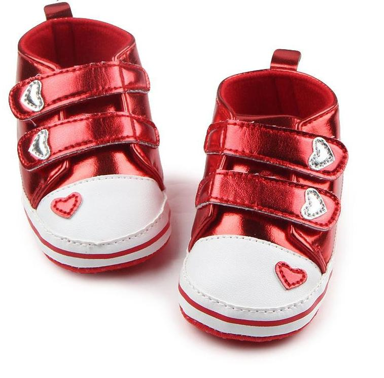 Shiny Tennis Shoes for Baby Girl