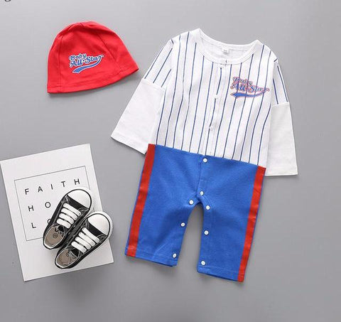Baby Boy Baseball Fireman Army Doctor Costume + Hat