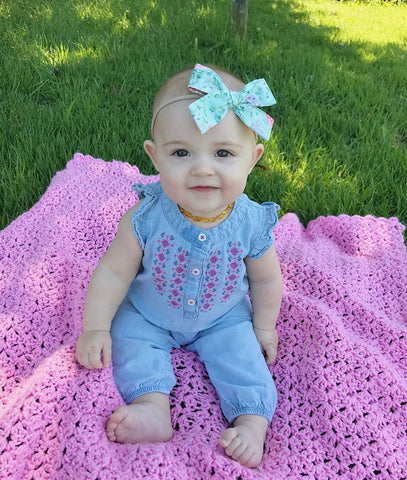 Cute Baby Girl Flower Romper