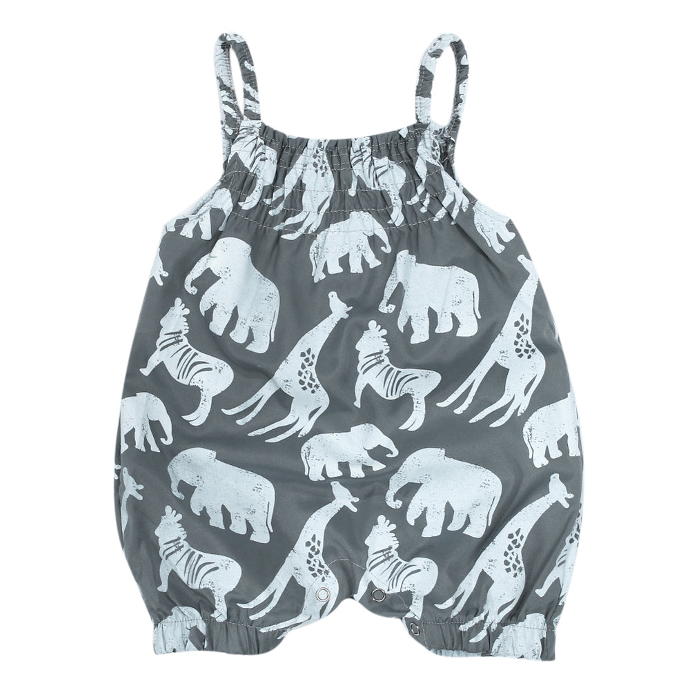 Animal Print Fashion Romper for Baby Girl