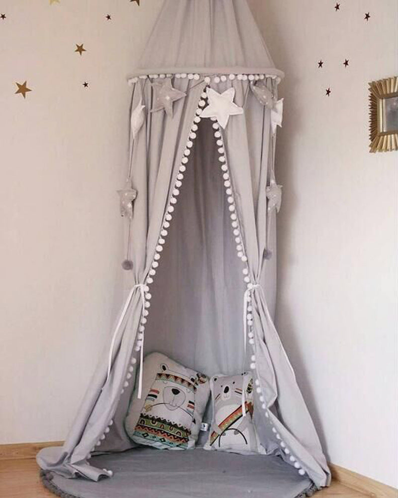 Cute Cotton Baby Bed Curtain/Canopy