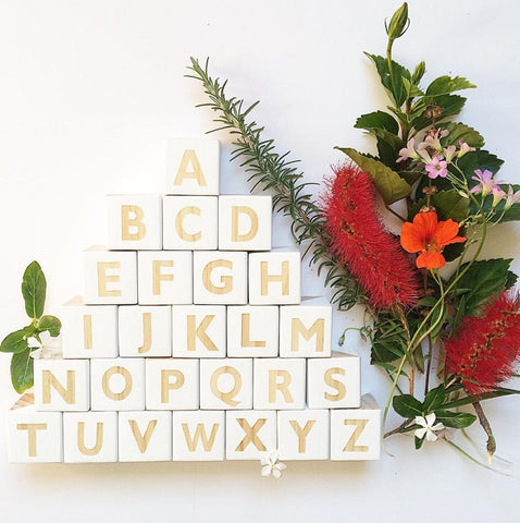 26 Alphabet Squares Decoration for Baby Room