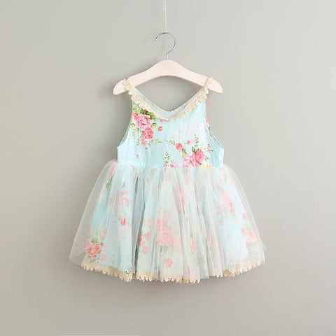 Summer Cute Cotton Lace Dress for Girl