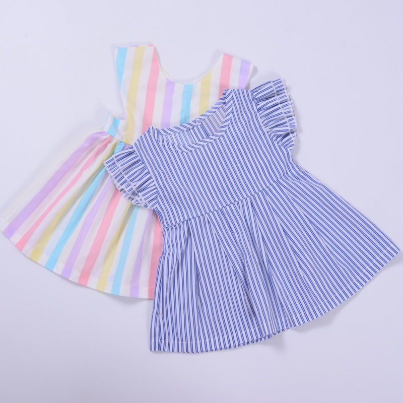 Lovely Summer Striped Dress for Baby Girls
