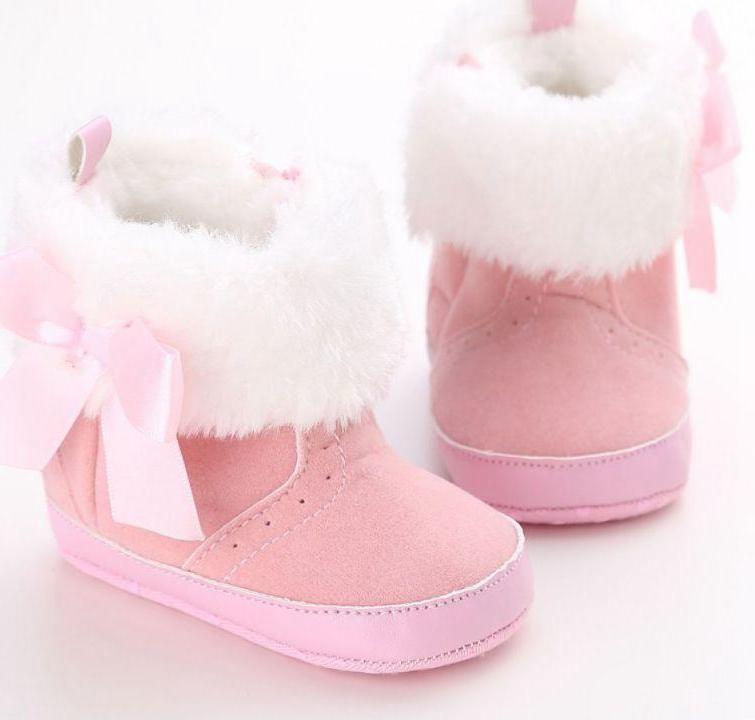 Baby Girl Warm Boots with Bow