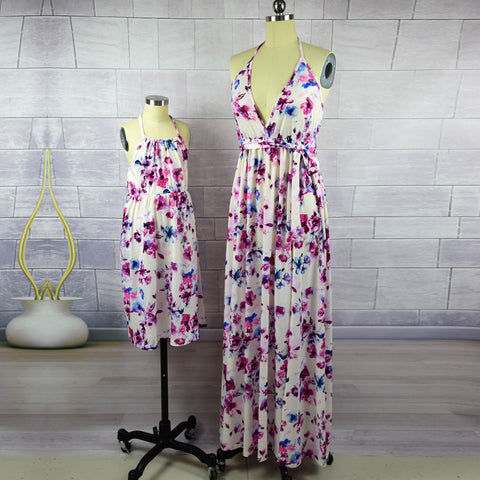 Mother Daughter Floral Matching Dress