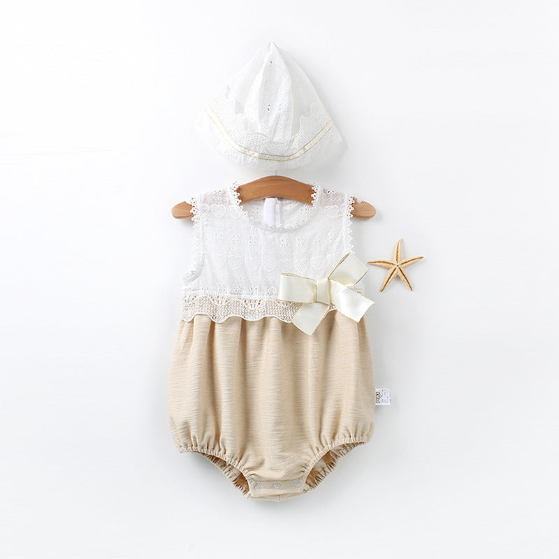Delicate Sleeveless Romper for Baby Girl