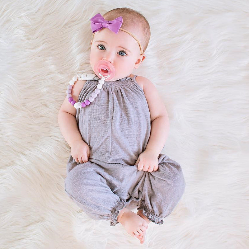 Baby Girl Summer Sleeveless Romper