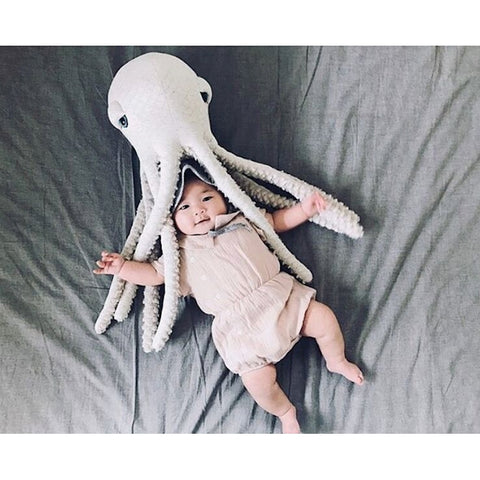 Octopus or Whale Cushion Toy for Baby