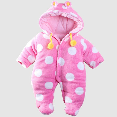 Cotton Padded Snowsuit for Baby Girl