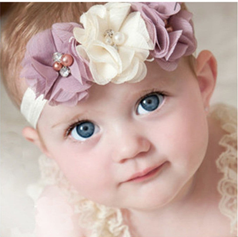 Cute Headband with Flowers