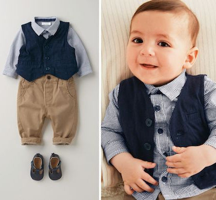 3 Piece Lovely Formal Set for Baby Boy