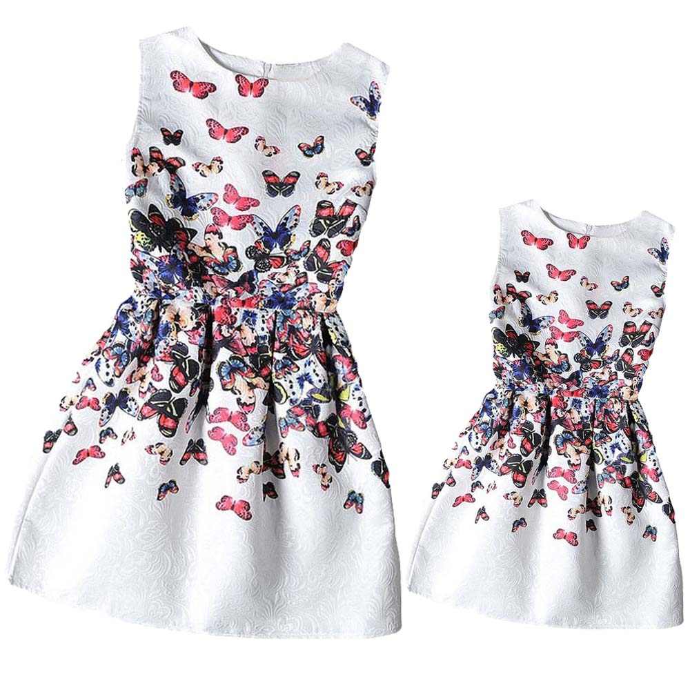 Mother & Daughter Matching Outfit Butterfly Dress